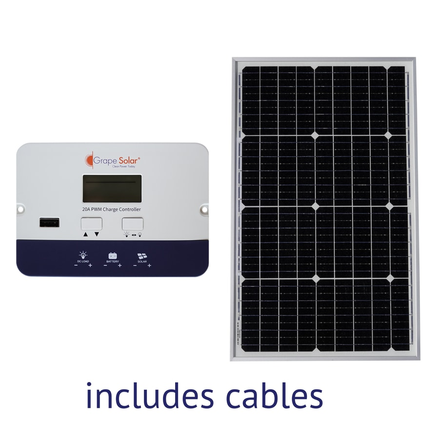 Shop portable solar panels kits at lowes grape solar off grid power kit 12 volt portable solar power kit solutioingenieria Image collections