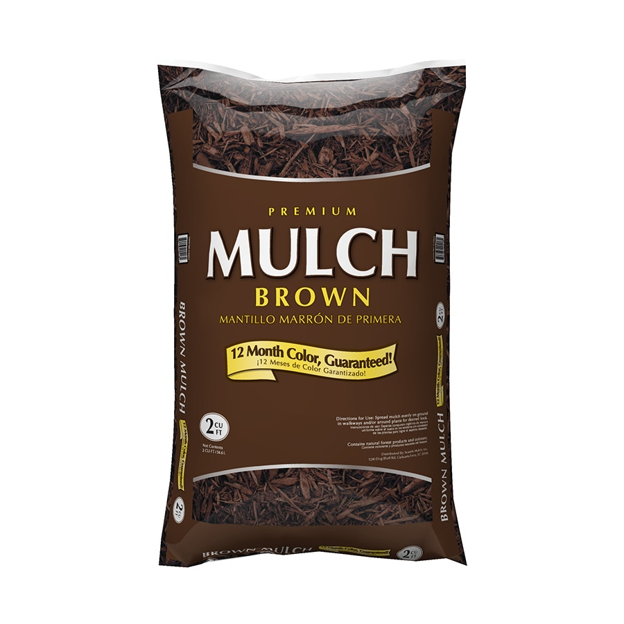 Premium 2 Cu Ft Brown Bagged Mulch