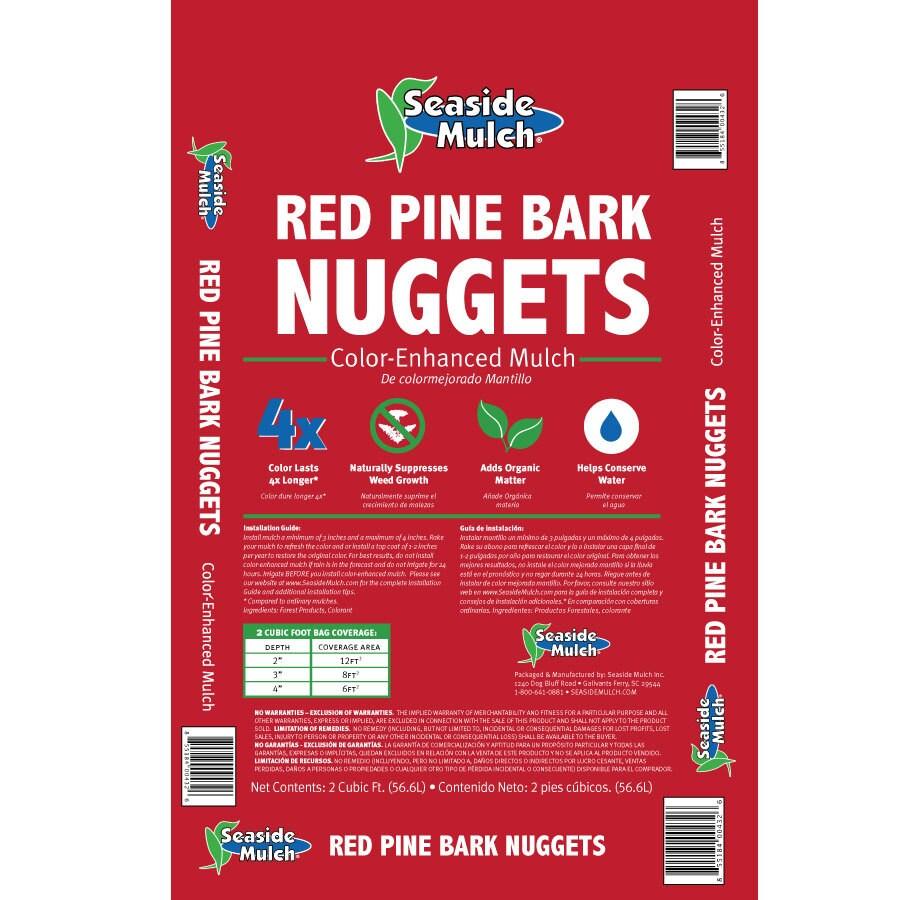 Seaside Mulch 2-cu ft Red Nuggets Pine Bark Mulch