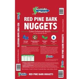 Seaside Mulch 2 Cu Ft Red Pine Bark Nuggets