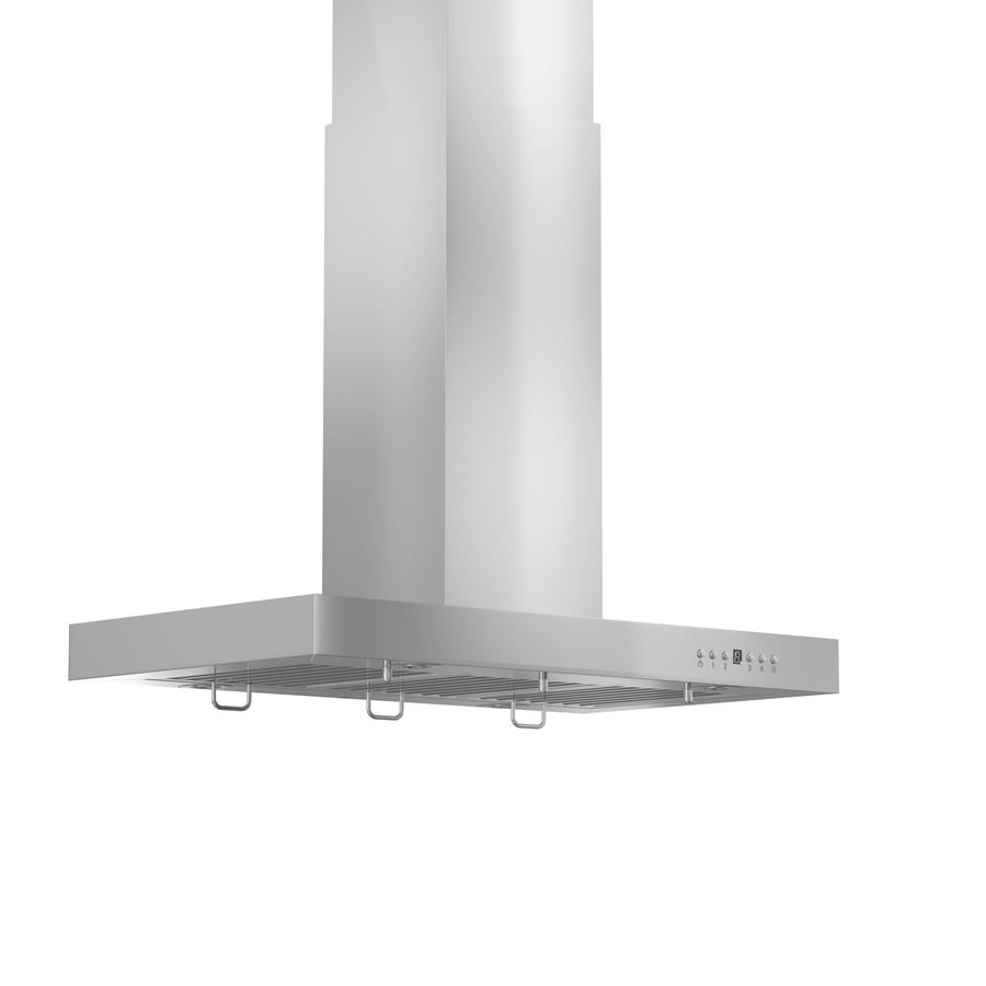 ZLINE KITCHEN & BATH Convertible Island Range Hood (Brushed 430 Stainless Steel) (Common: 30-in; Actual: 30-in)