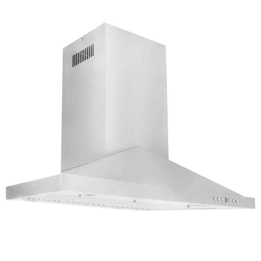 a09319aa868 ZLINE KITCHEN   BATH 30-in Convertible Stainless Steel Island Range Hood  (Common  30 Inch  Actual  30-in)