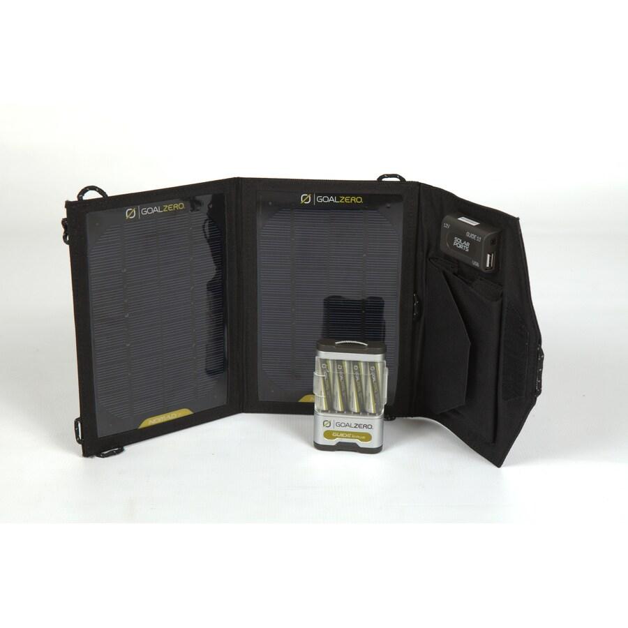GOAL ZERO Guide 10 Plus Adventure Kit 14-Volt Portable Solar Power Kit