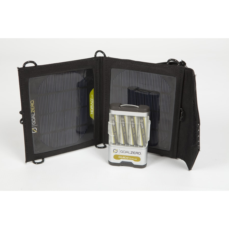 GOAL ZERO Guide 10 Plus Mobile Kit 1.2-Volt Portable Solar Power Kit