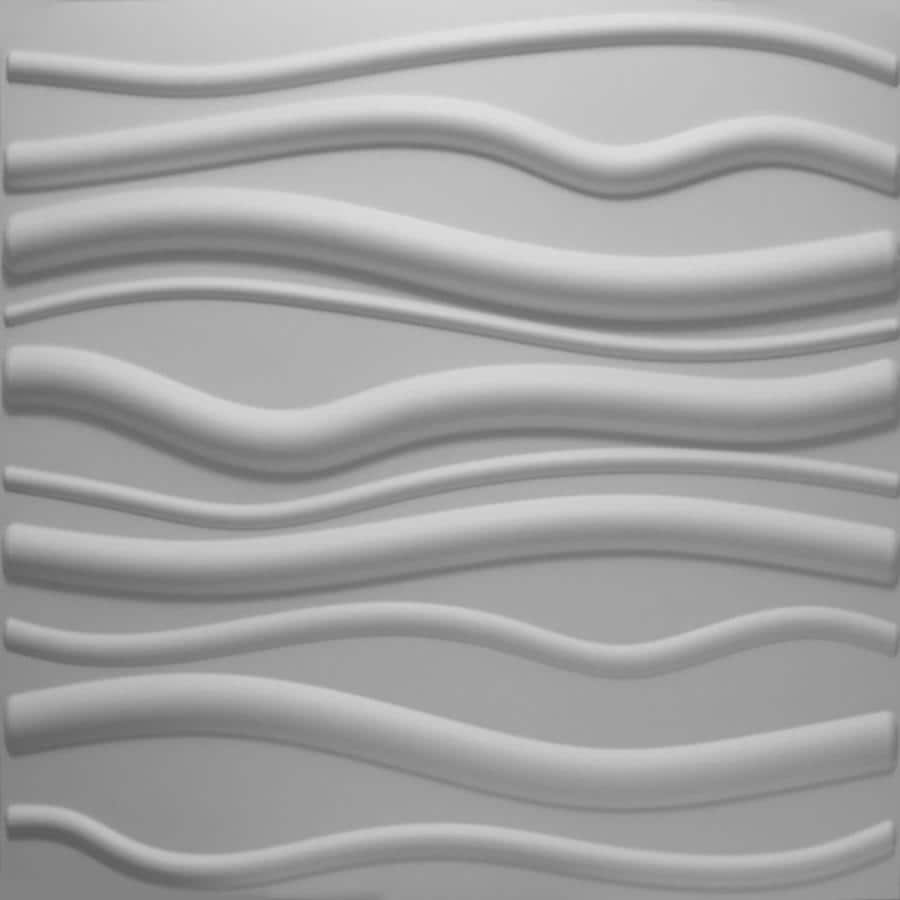 threeDwall threeDwall 31.4-in x 24.6-ft Embossed Off-White Bamboo Hardboard Wainscoting Wall Panel