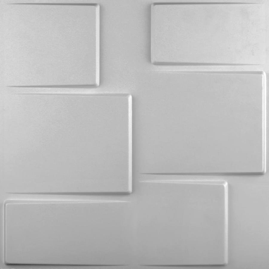 threeDwall threeDwall 19.6-in x 19.6-ft Embossed Off-White Bamboo Hardboard Wainscoting Wall Panel