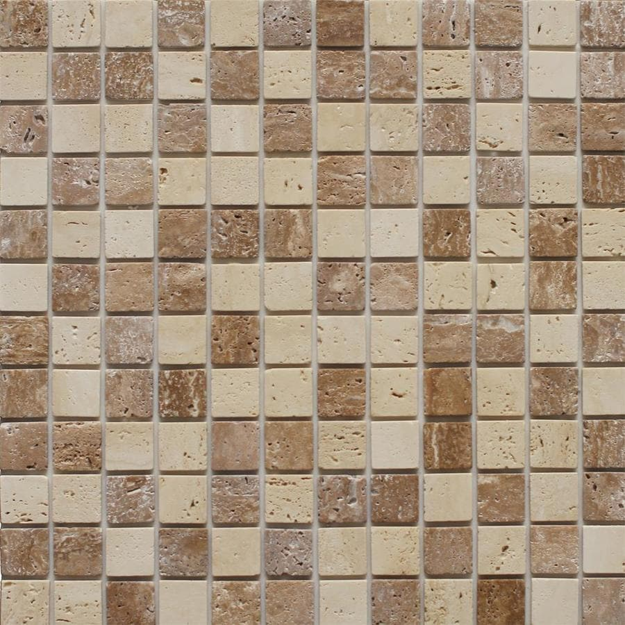Instant Mosaic 6-Pack Beige and Brown Tones Versailles Mosaic Wall Tile (Common: 12-in x 12-in; Actual: 12-in x 12-in)