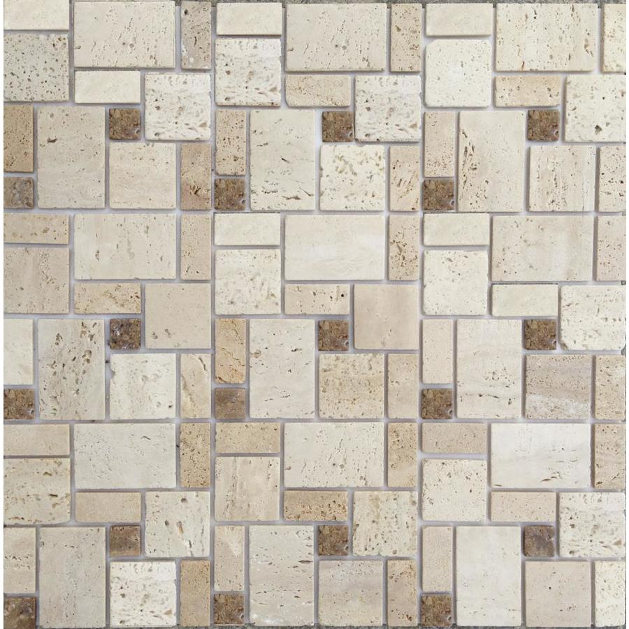Shop Instant Mosaic 6-Pack Beige and Brown Tones Versailles Mosaic ...