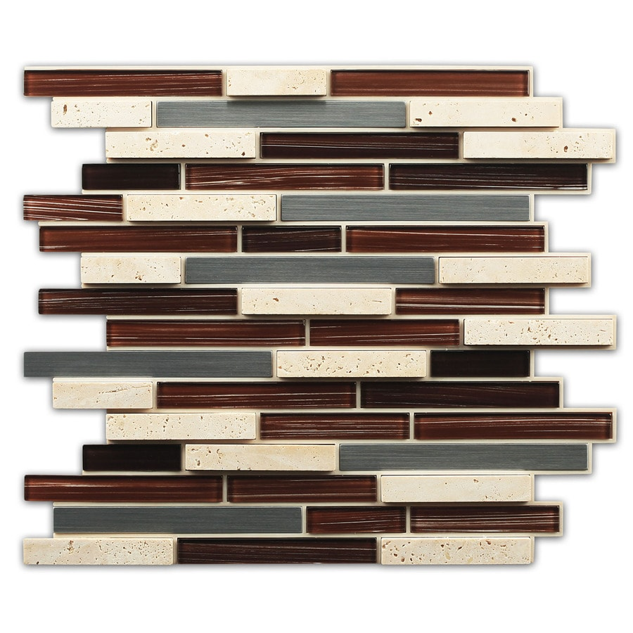 instant mosaic tile shop instant mosaic brown glass metal 781