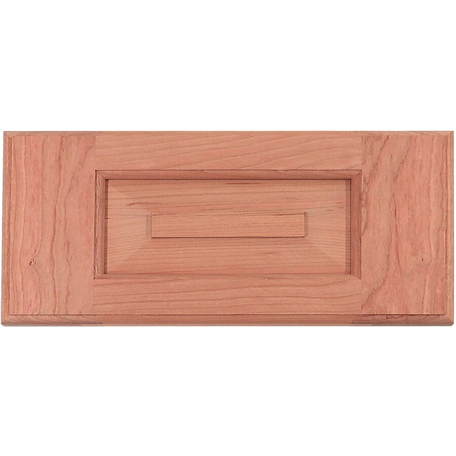Surfaces 13-in W x 6-in H x 0.75-in D Cherry Cabinet Drawer Front