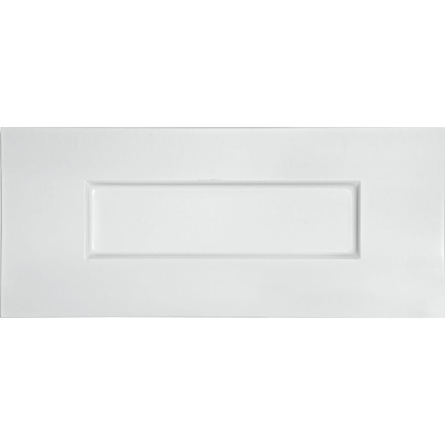 white drawer front. Surfaces 13-in W X 5.75-in H 0.75-in D Rigid White Drawer Front