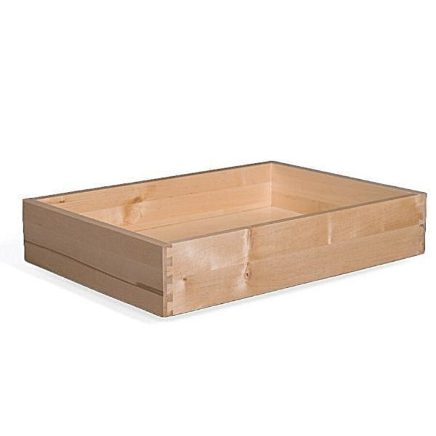 Surfaces 14-in W x 3-in H x 21-in D Natural Birch Cabinet Drawer Box