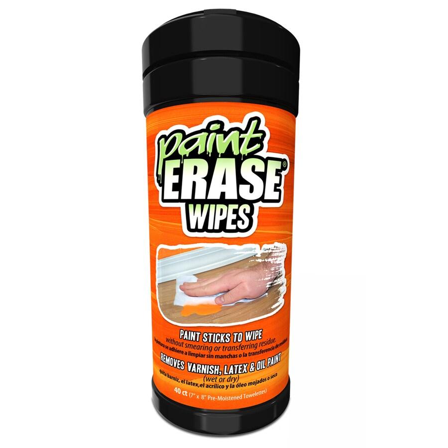 PaintErase 40-Count Premoistened Non-Transferring Citrus Scented Wipes