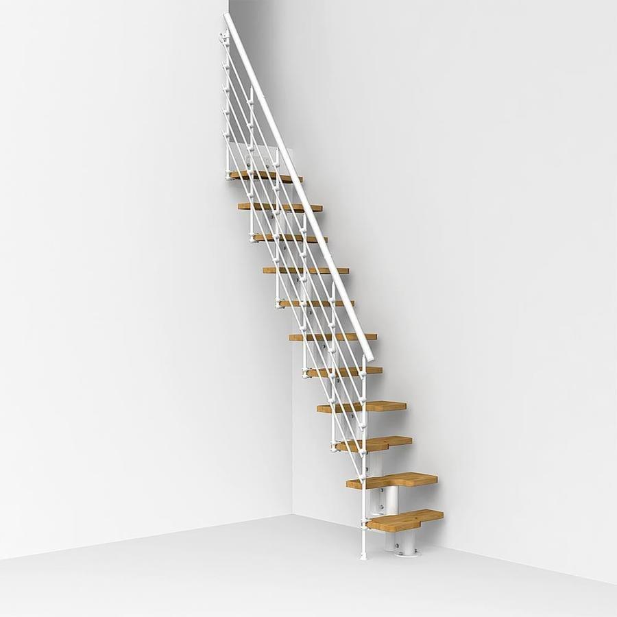 Shop Arke Oak Xtra X 9 1 Ft White Modular Staircase Kit At