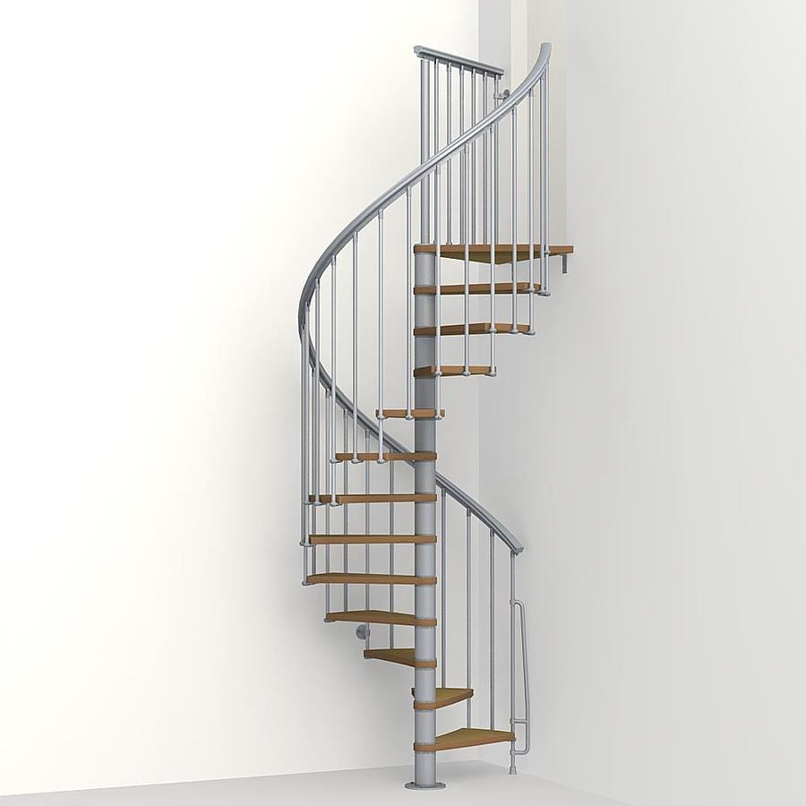 Shop Arke Nice1 51 In X 10 Ft Gray Spiral Staircase Kit At