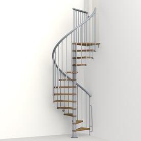 Delightful Arke Nice1 51 In X 10 Ft Gray Spiral Staircase Kit
