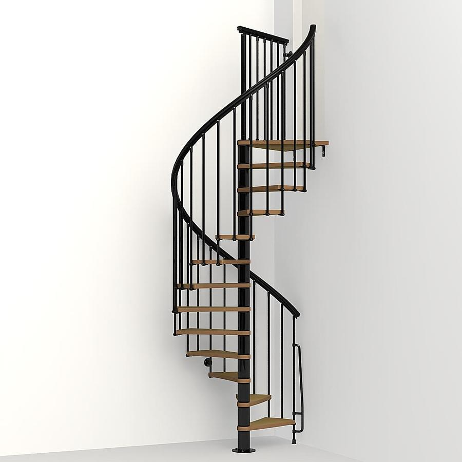 Arke Nice1 51 In X 10 Ft Black Spiral Staircase Kit At