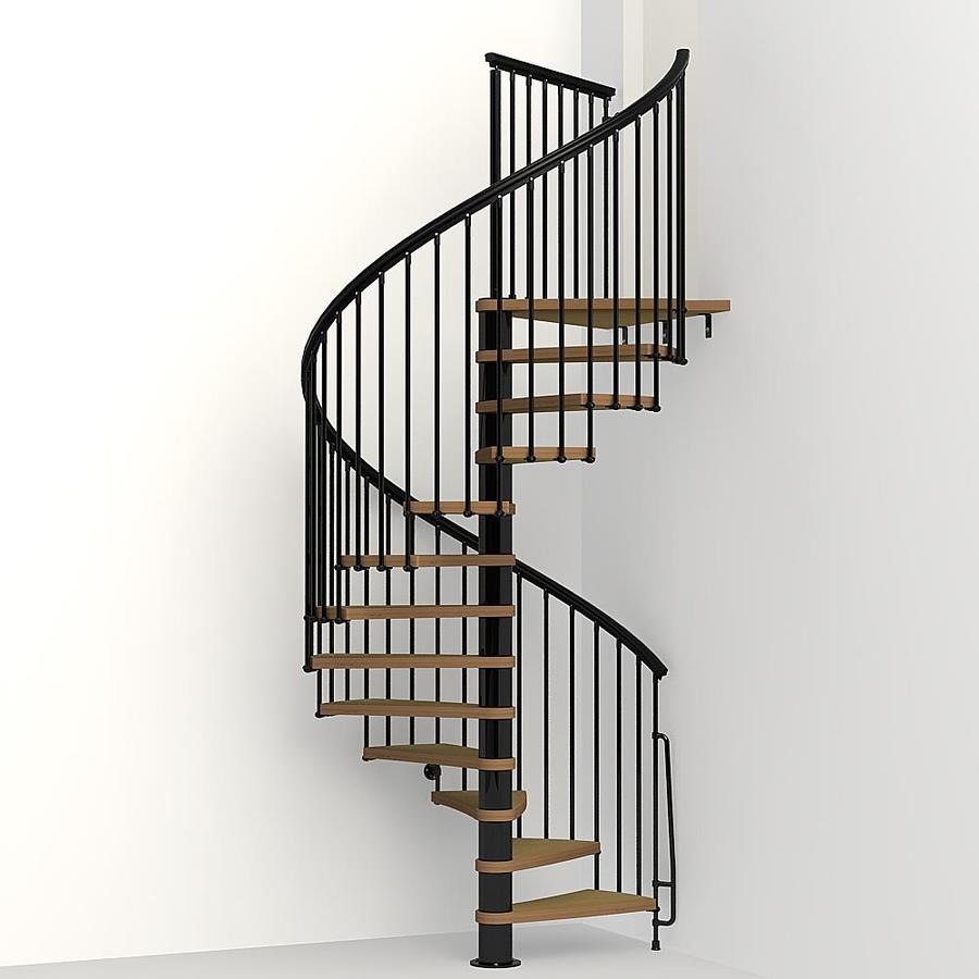 Shop Arke Nice1 63 In X 10 Ft Black Spiral Staircase Kit