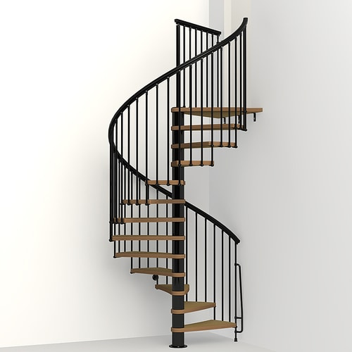 Spiral Staircase Lowes: Arke Nice1 63-in X 10-ft Black Spiral Staircase Kit At