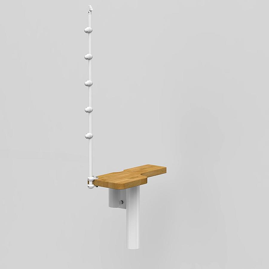 Arke Oak 30.Xtra 21.25-in x 10-in Hi-Gloss White Painted Red Oak Wood Stair Riser