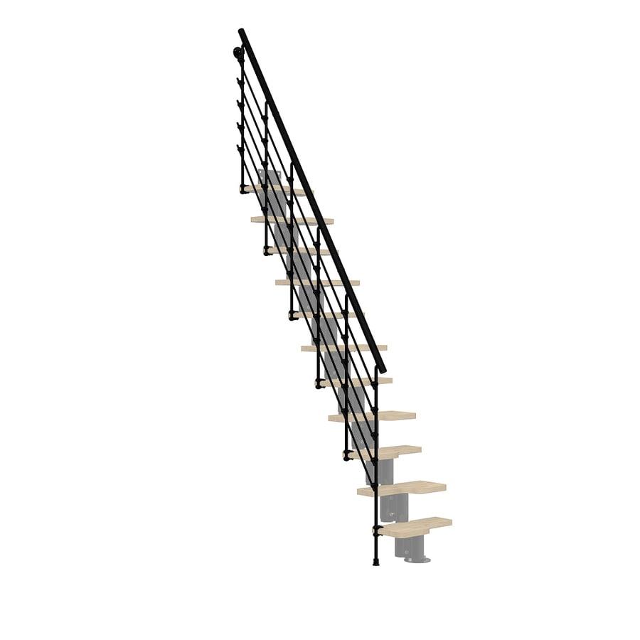 Arke Oak 30.Xtra 5-ft Black Painted Powder-Coated Steel Stair Railing Kit