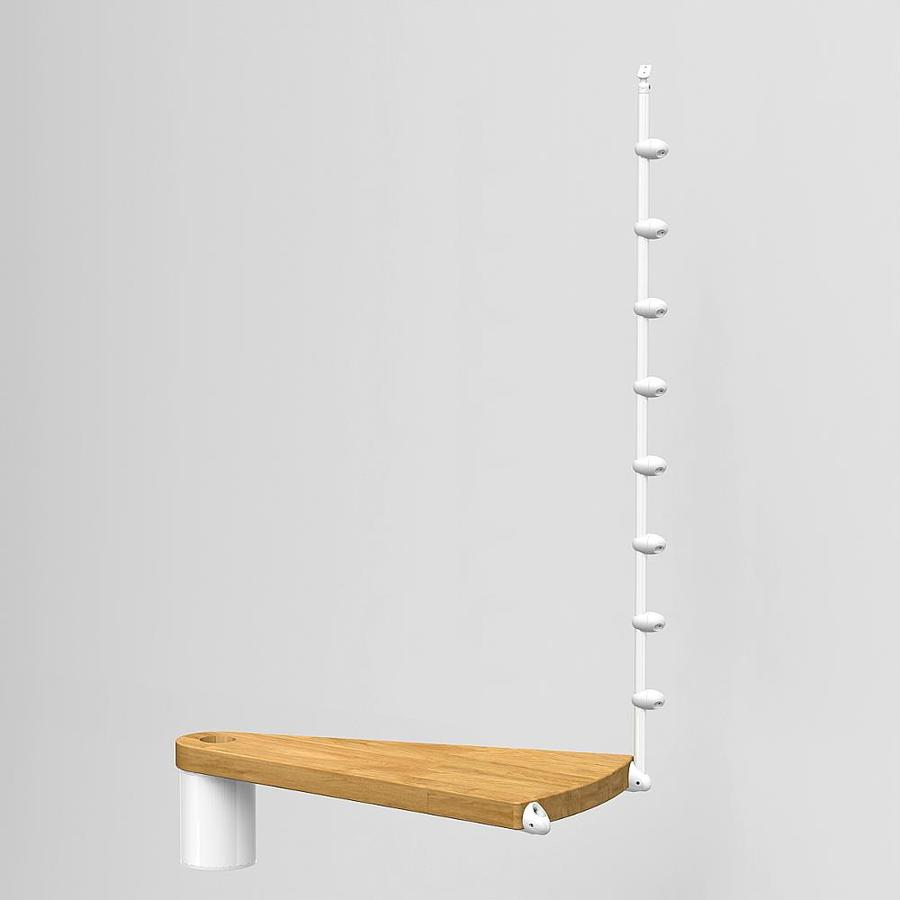 Arke Oak70 24.5-in x 15.43-in White Stained Oak Wood Stair Riser