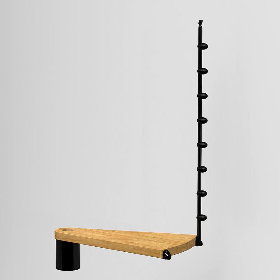 Arke 28.5-in x 16.25-in Black Stained Oak Stair Riser