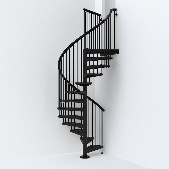10 Ft Black Spiral Staircase Kit