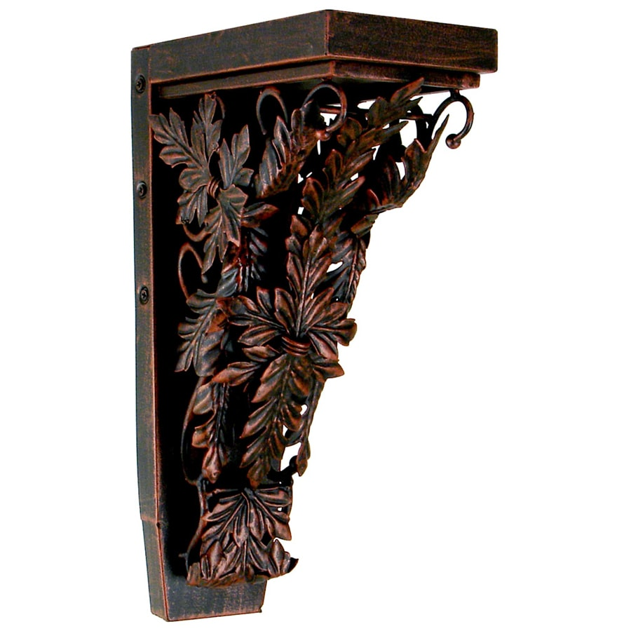 Chateau 4.25-in x 13-in Aged Copper Handmade Detail Painted Iron Corbel