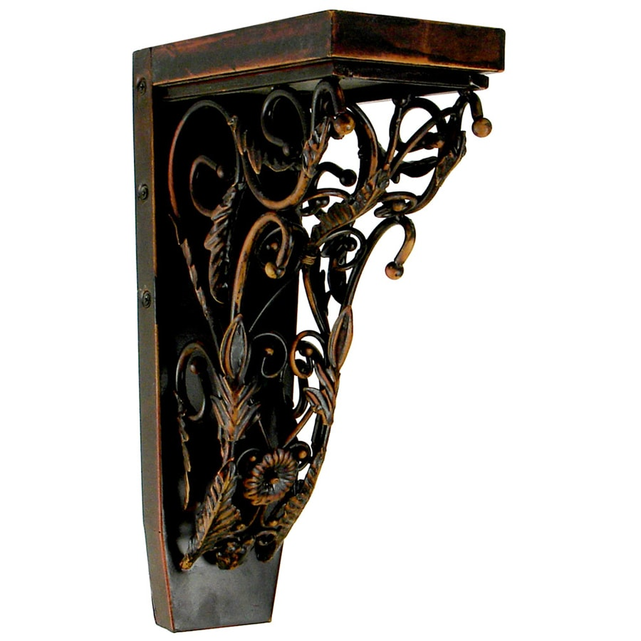 Chateau 4.25-in x 13-in Oiled Bronze Handmade Detail Iron Corbel