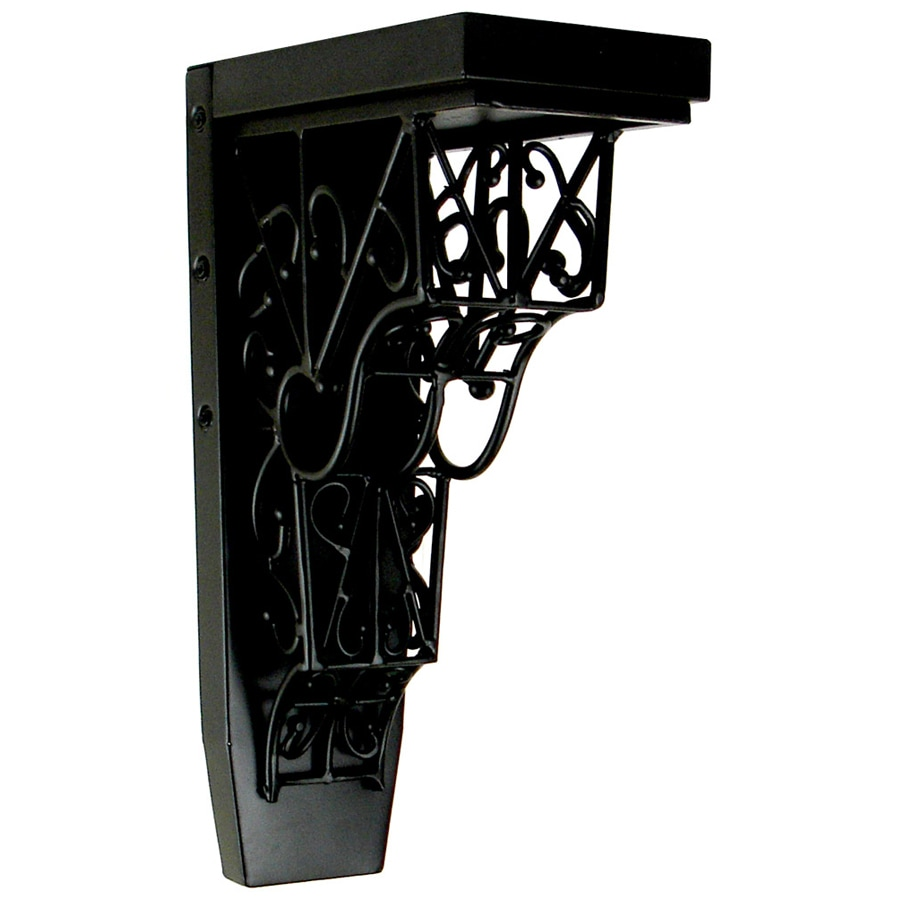 Chateau 4.25-in x 13-in Black Wrought Iron Handmade Detail Iron Corbel