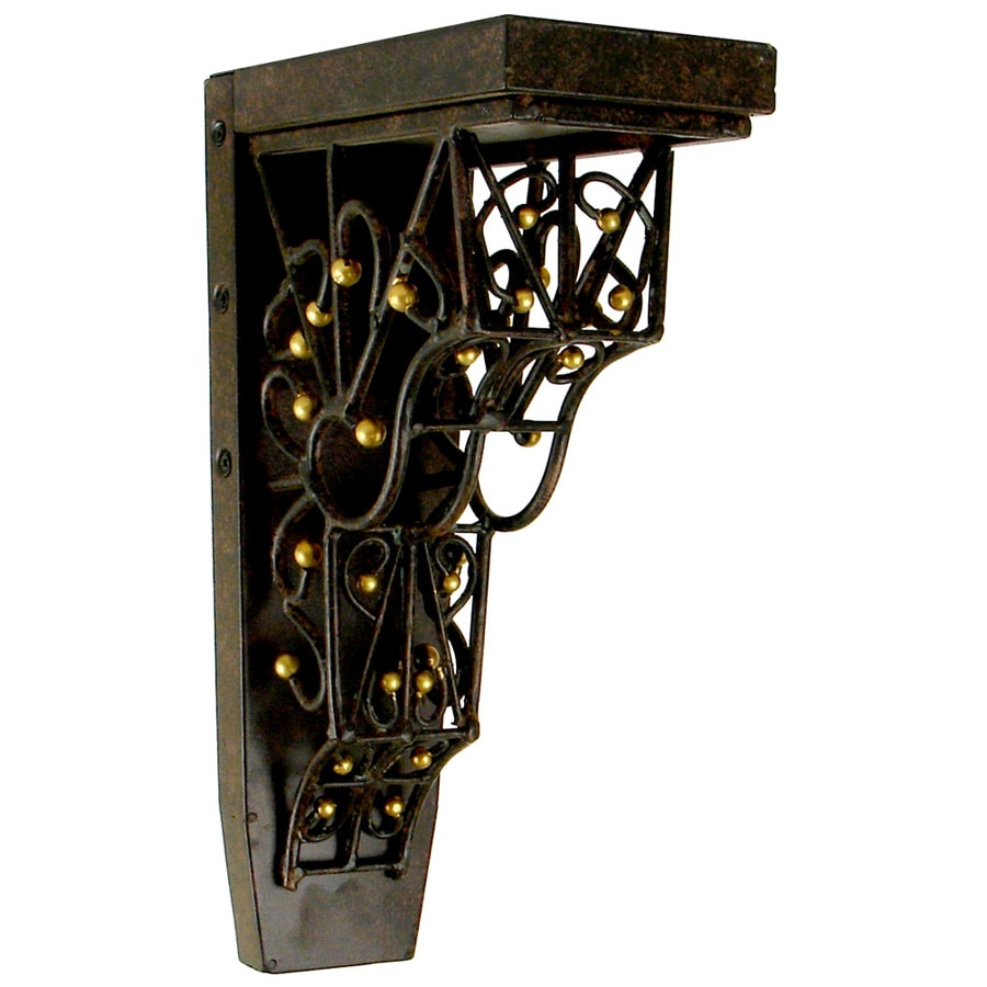 Chateau 4.25-in x 13-in Gilded Iron with Gold Detail Handmade Detail Iron Corbel