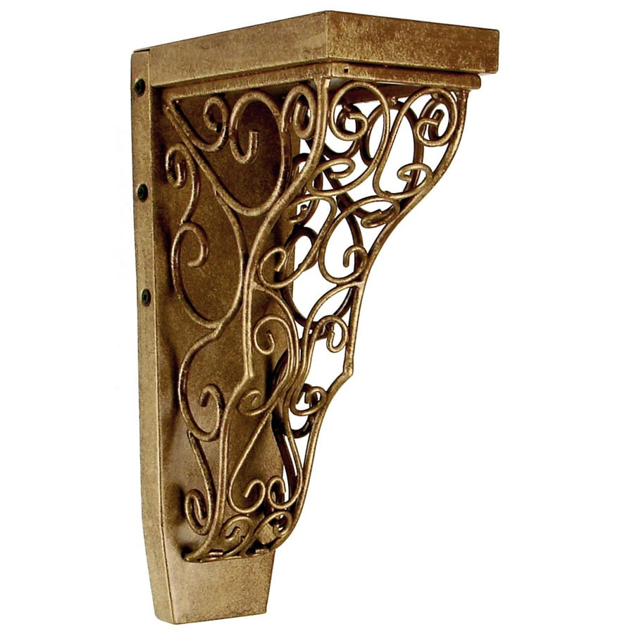 Chateau 4.25-in x 13-in Kindled Gold Handmade Detail Iron Corbel