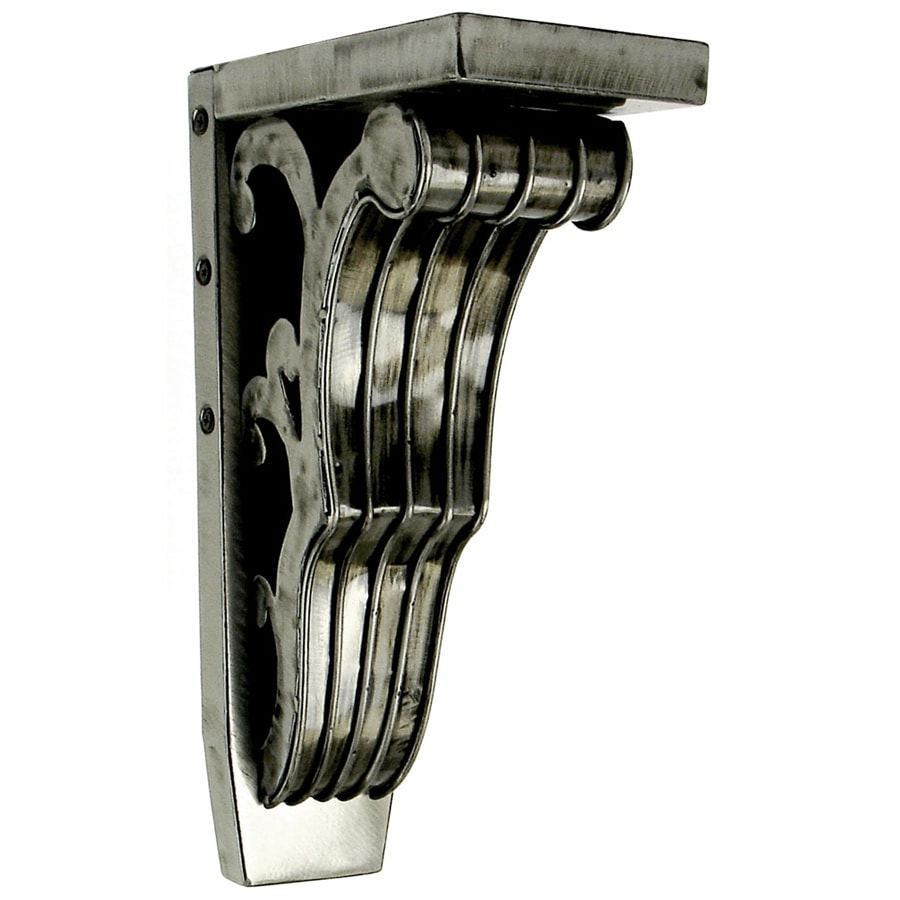 Chateau 4.25-in x 13-in Brushed Steel Handmade Detail Iron Corbel