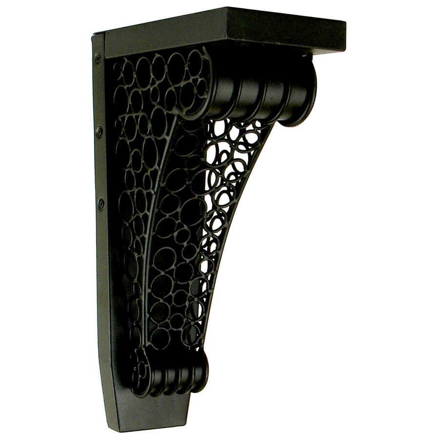 Chateau 4.25-in x 13-in Black Wrought Iron Painted Iron Corbel