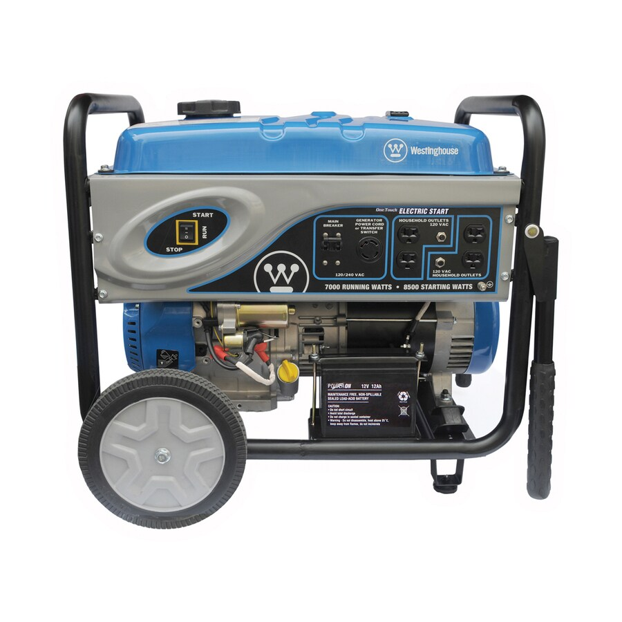 Westinghouse 7,000-Running-Watt Portable Generator with Westinghouse Engine