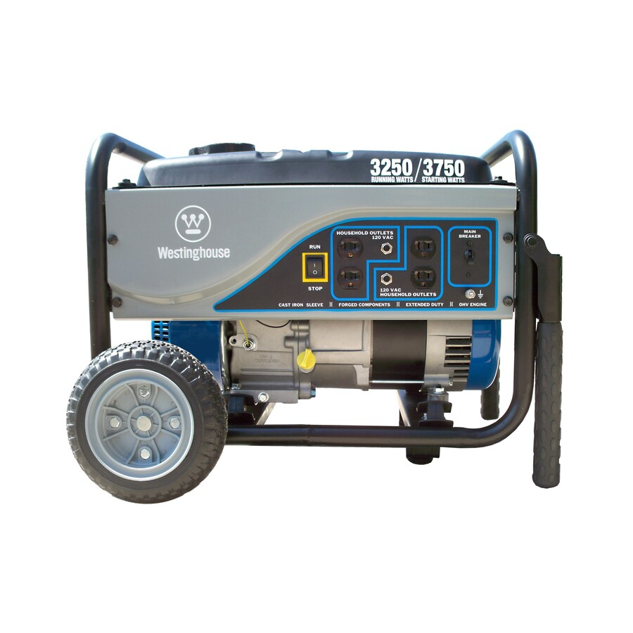 Westinghouse 3,250-Running-Watt Portable Generator with Westinghouse Engine