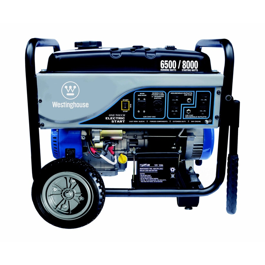 Westinghouse 6,500-Running-Watt Portable Generator with Westinghouse Engine