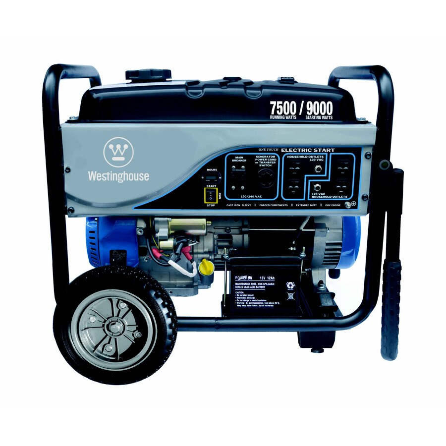 Westinghouse 7,500-Running-Watt Portable Generator with Westinghouse Engine