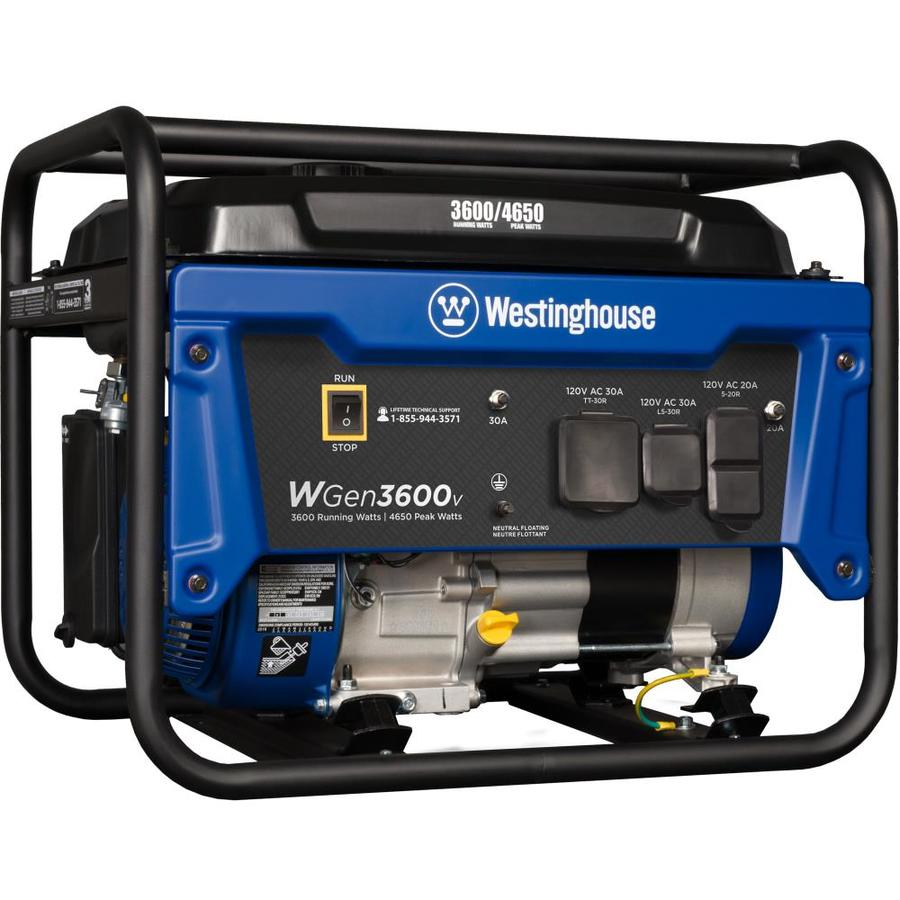 Shop Portable Generators At Onan 4kw Generator Wiring Diagram Westinghouse Wgen 3600 Running Watt With Engine