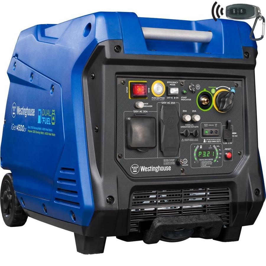 Westinghouse iGen 4500-Watt Inverter Gasoline Portable Generator at on