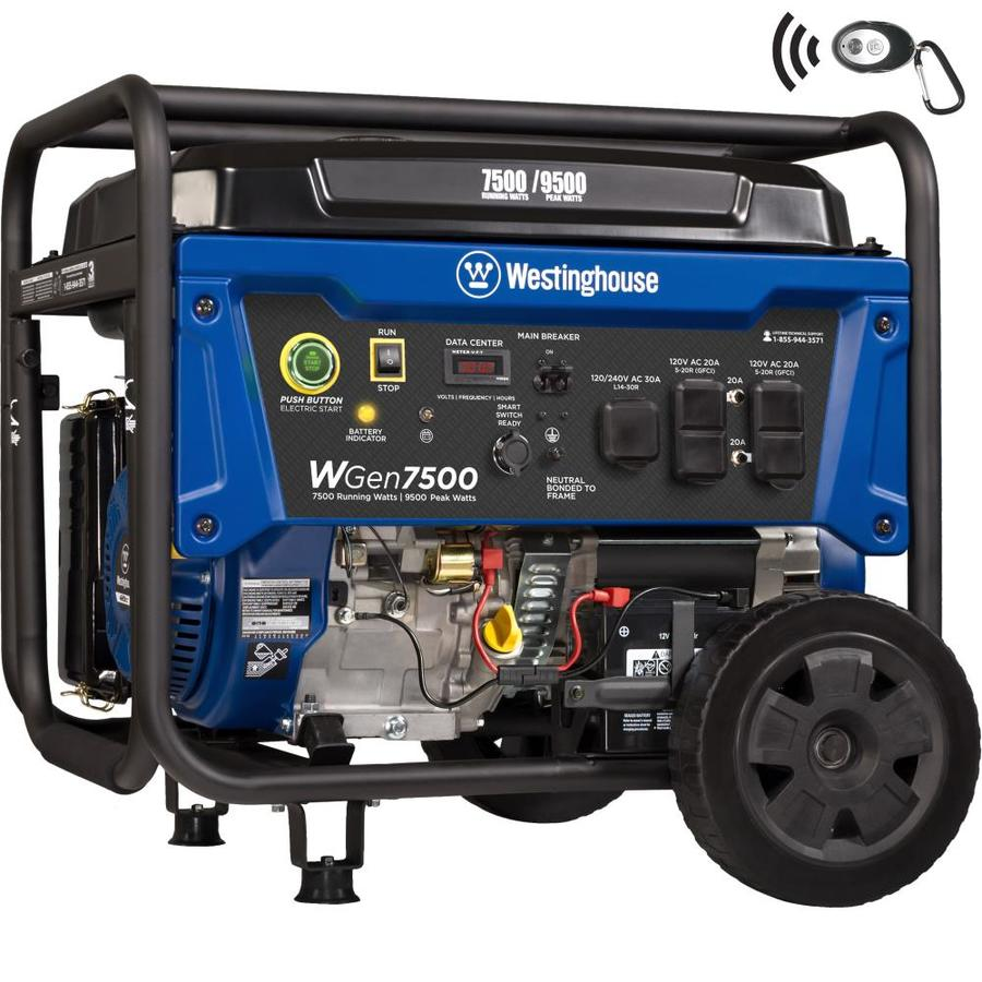 Portable Generators At Generator Way Single Phase Three Power Gas Westinghouse Wgen 7500 Running Watt With Engine