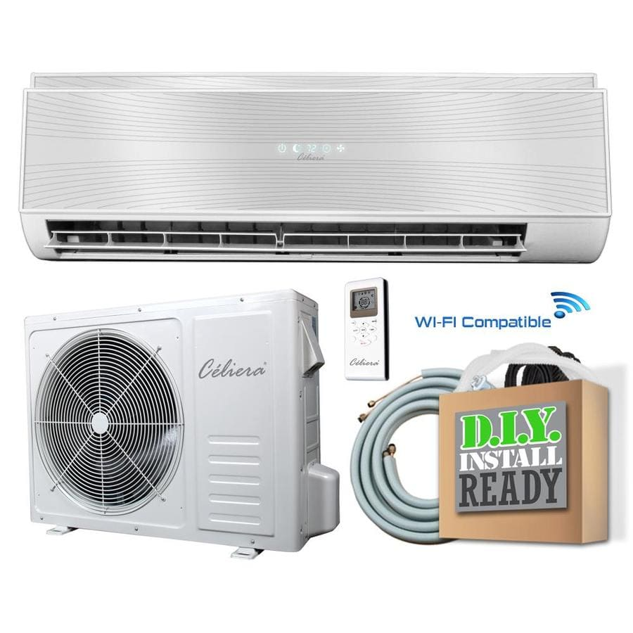 celiera gwx 9500 btu 400 sq ft single ductless mini split air conditioner with - Air Conditioner And Heater