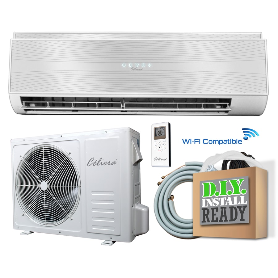 Shop celiera 12000 btu 540 sq ft ductless mini split air conditioner with heater at - Bedroom air conditioner ...