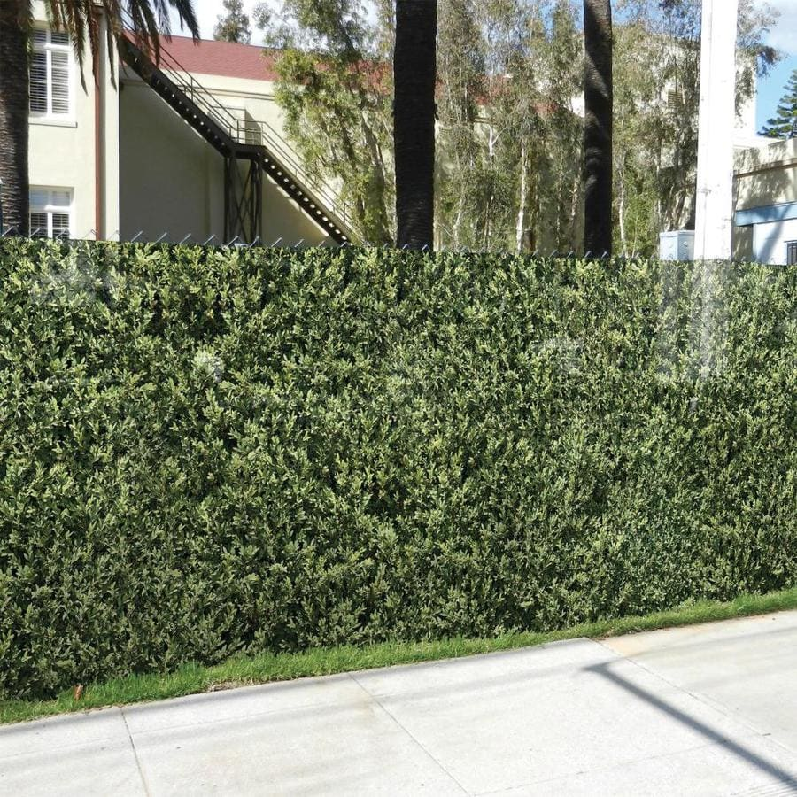 FenceScreen Leaf Hedge Leaf Hedge Graphic Chain-Link Fence Privacy Screen (Fits Common Fence Height: 4-Ft; Actual: 25-ft x 3.667 Feet)