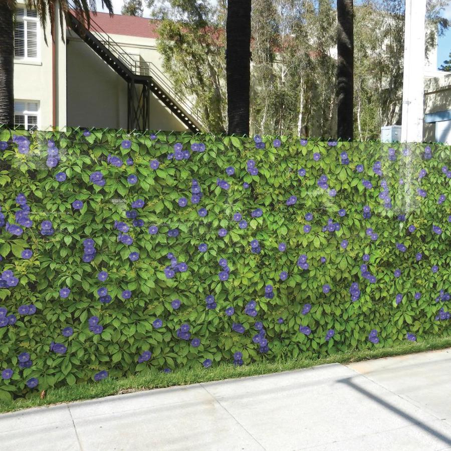 FenceScreen Purple Morning Glory Purple Morning Glory Graphic Chain-Link Fence Privacy Screen (Fits Common Fence Height: 5-Ft; Actual: 25-ft x 4.667 Feet)