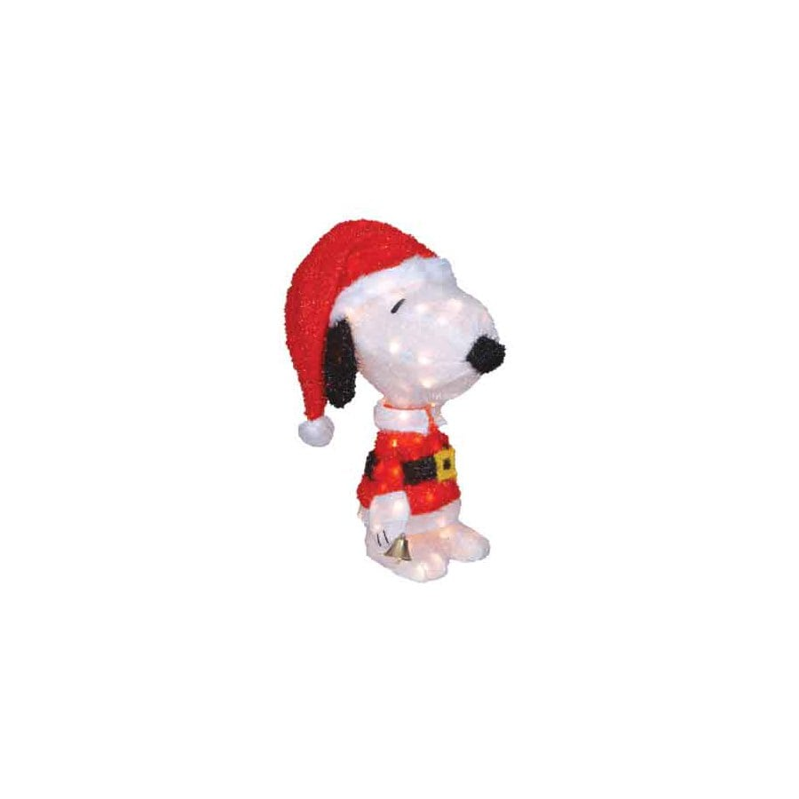 Peanuts Pre-Lit Snoopy Sculpture with Constant White Lights
