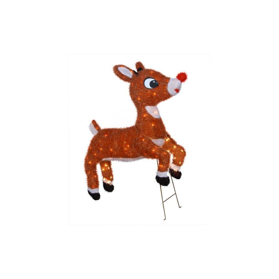 Shop rudolph the red nosed reindeer 32 animated outdoor for Outdoor reindeer decorations