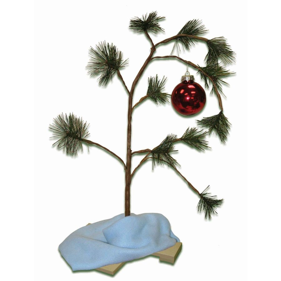 Peanuts Wood Lonely Tree Musical Tabletop Christmas Decoration