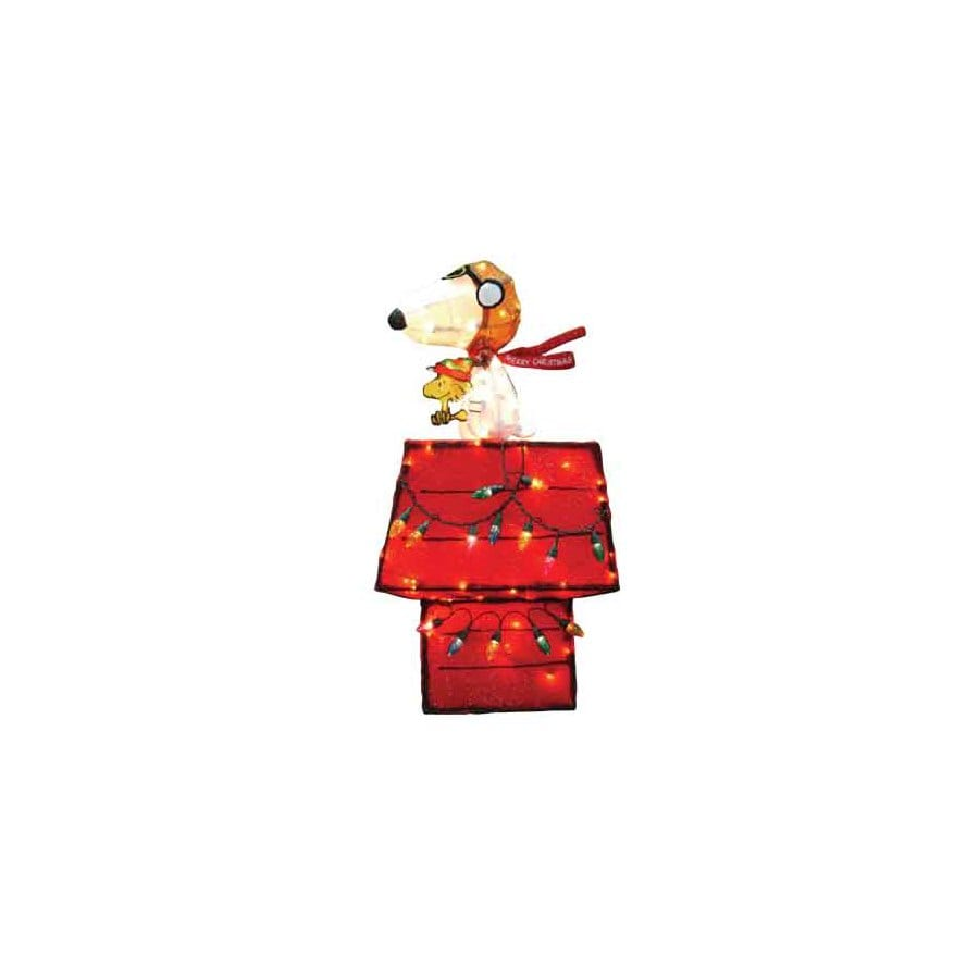 Peanuts 2.91-ft Tinsel Red Baron Christmas